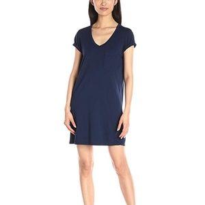 Michael Stars Blue Short Sleeve Shirt Dress Med